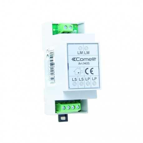 Conmutador digital para instalación con 2 entradas. Sistema 2 hilos. Compatible con Kits Quadra