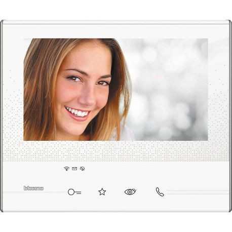 Kit Video portero Color, para vivienda unifamiliar, 2 Hilos, Monitor SWING y Placa SFERA NEW, acabado aluminio. TEGUI 376126