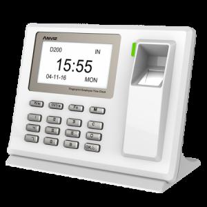 Control de presencia biométrico de sobremesa. Baterías de litio. ANVIZ D200