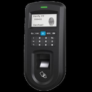 Lector biométrico anti vandálico (IP53) con lector MIFARE y teclado para control de accesos y presencia