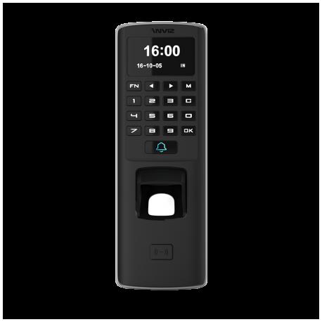 Lector biométrico autónomo para control de presencia y acceso, huellas dactilares, RFID y teclado, apto para exterior anvandáli