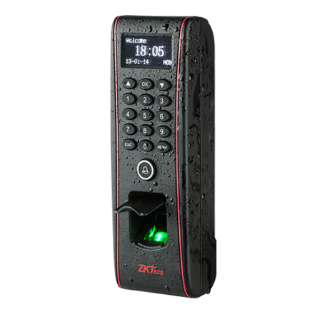 Control de Presencia Huellas, Tarjeta EM RFID y teclado. Apto para exterior