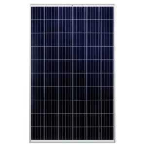 Panel solar policristalino de 270W, 60 células. Eficiencia del 16.5%. Funcionamiento lineal hasta 25 años. Temperatura operativ