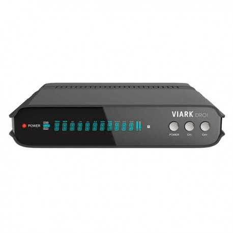 Receptor TV satélite HD con Wifi, Hdmi 1080p, USB. VIARK SAT HD H265