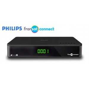 Receptor SAT (S2)+ Tarjeta Fransat, FULL HD, H.264, Wifi integrado, IR