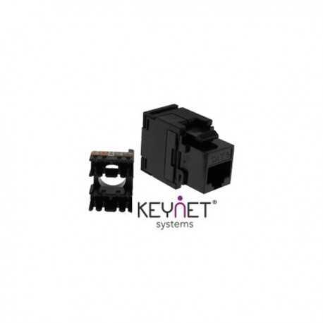 Conector RJ45 Hembra Cat5e 180º, sin necesidad de herramienta (tipo Keystone)