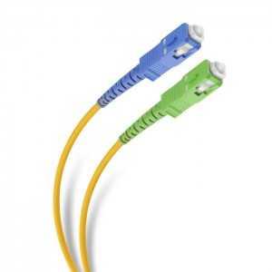 Latiguillo de fibra SC/APC - SC/UPC 3mm, G657A2 monomodo, 2mts,color amarillo