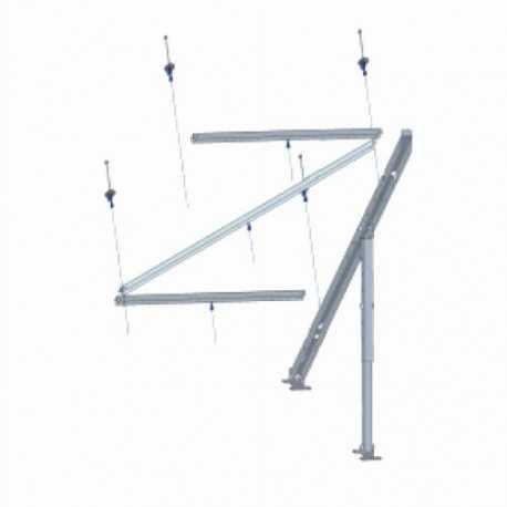 Extension del soporte para montaje panel solar en posición vertical.
