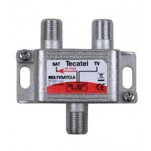 Mezclador RF/SAT, con conector F