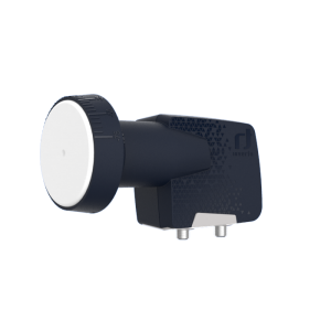 LNB Twin (2 Receptores), 55dB, 0,3dB ruido, cuello 40x70mm (An x Largo)