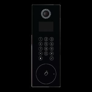 """Kit videoportero IP placa INOX superficie para supervisión vía smartphone. Con monitor 7"""" Wifi, uso con móvil. Unifamiliar."""