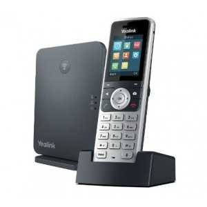 Teléfono IP Dect W53P, 8 llamadas simultáneas, 8 cuentas SIP, Expansible hasta 8 terminales supletiorios W53H. Pantalla Color,