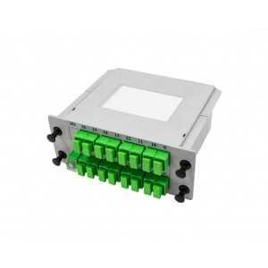 Splitter óptico 1x8 SC/APC, G657A1, 1.5 metros, formato cassette