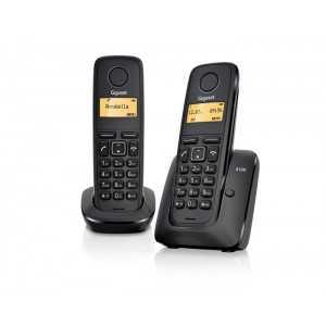 Teléfono analógico inalámbrico con identificación de llamada, ECO mode plus, Números marcados, rellanada últimos 10 números mar