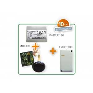 Kit de control de accesos GPRS Intrabox con dos lectorres de proximidad Mifare. 06-0145-SP