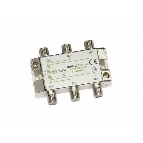 Derivador de montaje interior 2300Mhz, 20 dB, 4 salida