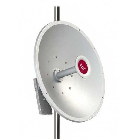 Antena parabólica de 5Ghz, 30dbi con conectores RPSMA, alineación de precisión