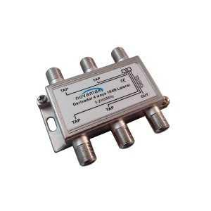 Distribuidor de 4 salidas con DC PASS, conector F. At. 10dBi
