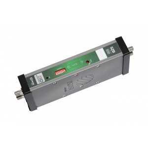 Amplificador modular programable, de 1 a 4 canales continuos, 55dB a 1 MHz, CAG, 40-90dB, salida hasta 121dBuV, 24Vdc 250mA