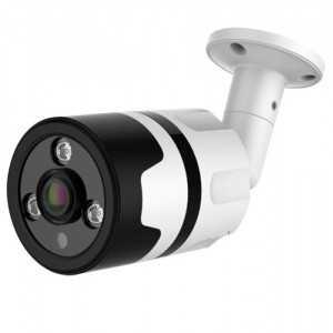 Cámara bullet 4 en 1, 1080p, 1.8mm, IR 30mts. IP66, blanca.