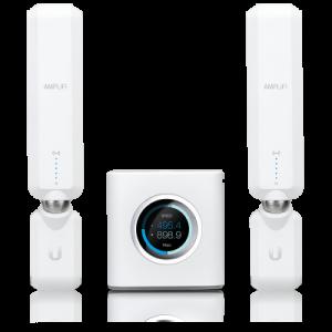Router + 2 antenas de red mallada para extender su cobertura WiFi del hogar a través del innovador Sistema Home WiFi AmpliFi HD