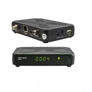 Receptor SAT (S2), Full HD, H.265, 1 Lector tarjetas, Wifi USB opcional, x2 USB, RS232, Ethernet, PVR, S/PDIF, entrada AV. EPG,