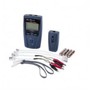 Tester de línea con display para RJ45, RJ11. Medición de largura de cable, 2 piezas