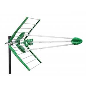 Antena UHF pasiva. 17dB. C48. D/A 20dB. Verde
