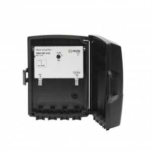 Amplificador de mástil 1 Entrada. UHF (C21/60), 40dB, Ajustable 15dB, 106dBµV