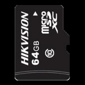 Tarjeta de memoria Hikvision, 64 GB, Clase 10 U1, Hasta 500 ciclos de escritura, FAT32, Especial para video-vigilancia y CCTV e
