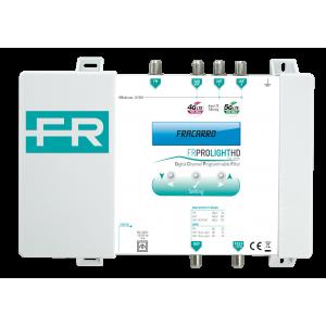 Central programable 30 filtros y 4 Entradas (x1 FM / x1 DAB-VHF / x2 UHF). 45dB G113dBu. 20dB ajuste de ganacia.