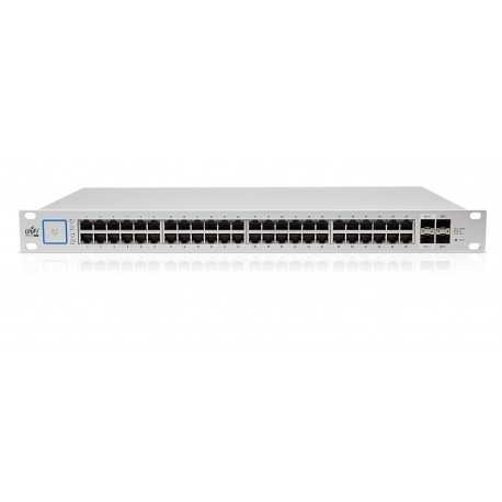 UniFi Switch 48 puertos Gigabit POE (750W), 2 puertos SFP y 2 puertos SFP+