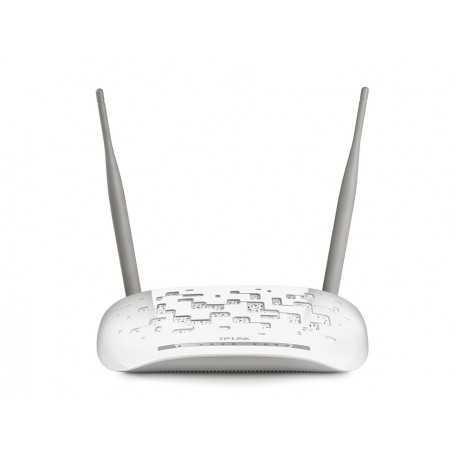 Router ADSL 2+, 300Mbps,x4 RJ45 y x1 RJ11, x2 antenas de 5dBi