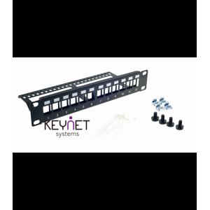 "Patch Panel para rack de 10"", x12 puertos vacío"