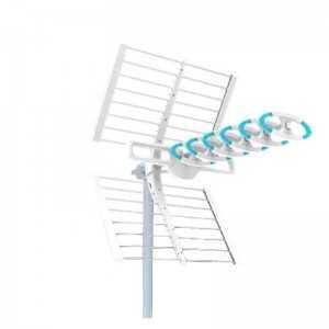 Antena UHF 5G pasiva. 16dB. C48. D/A 28dB. Color blanco