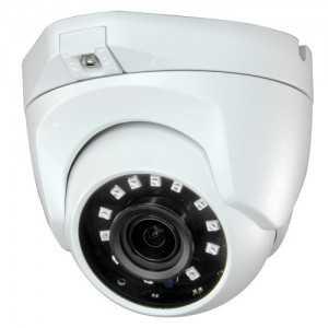 Cámara domo 4 en 1, 1080p, 2.1mm, IR 30mts. IP66, blanca