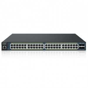 Switch Gestionable que hace de controladora hasta x50 AP de Engenius. Con 48 puertos Gb POE 740W y x4 SFP. Formato Rack