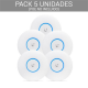 PACK 5 AP AC 2.4/5Ghz, 20dBm, x2 antenas de 3dBi, 2x2 MIMO. No incluye POE