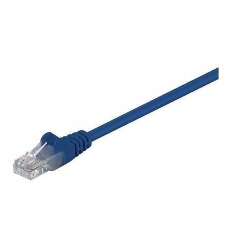 Latiguillo Cat 6 UTP 0,50mts, color azul