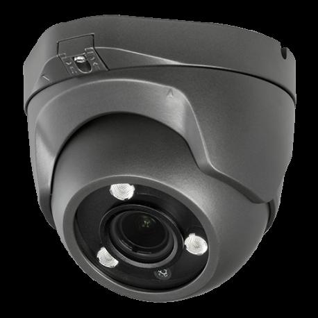 Cámara domo 4 en 1, 1080p, 2.8-13.5mm , IR 40mts. WDR, IP66, negra.