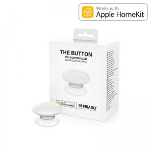 Botón de acción Zwave Blanco. Versión HOME KIT Apple. FGBHPB-101-1