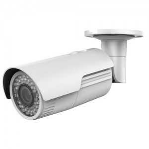 Cámara IP bullet, 3MPx, IR 30mts, 2.8-12mm, H.264+, PoE802.3af. IP67