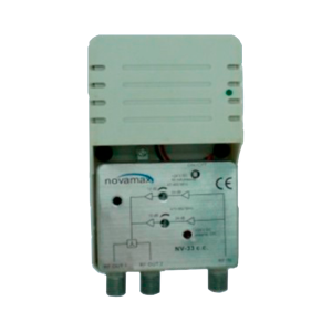 Amplificador de interior 5G, 2 salidas, VHF/UHF, 24dB, 102dBu