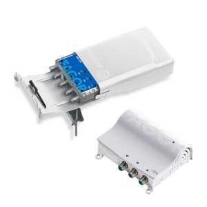 Kit de Amplificador mástil 5G AML 540 (4 entrada FM/BIII/2xUHF, 18/18/38/38dB, 114dBµV) + Fuente FA 252