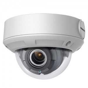 Cámara IP domo, 4Mpx, IR 30mts, lente motorizada 2.8-12mm, H265+, PoE802,3af, IP67