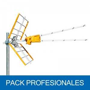 Antena UHF pasiva. 15dB. C60. D/A 25dB. Corte de banda configurable C58/59/60