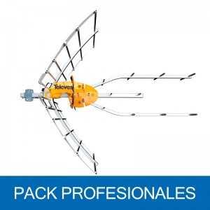 Antena Terrestre ELLIPSE UHF C21-48, G 38dB BOSS ON. Embalaje colectivo 8U (SIN Alimentación). 148920
