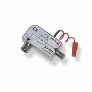 Inyector de corriente continua blindado con conector F