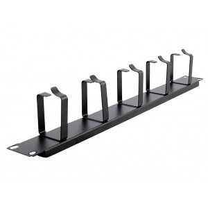 """Organizador guía-cables para rack 19"""", 1U, 5 anillas metálicas"""