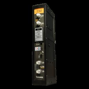 Amplificador mono canal, 58dB, 125 dBuV, 24V. Canal 24